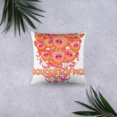 Bouquet of Pigs Pillow 4