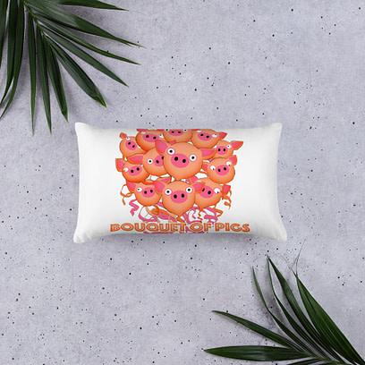 Bouquet of Pigs Pillow 1